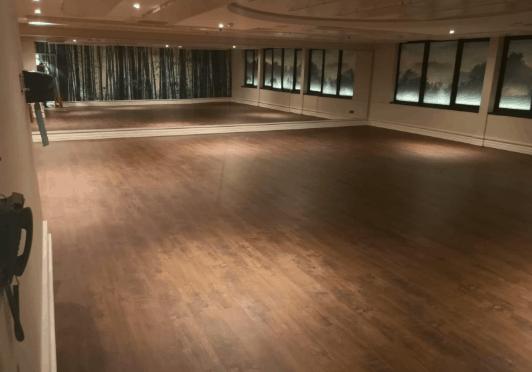 New hot yoga studio flooring