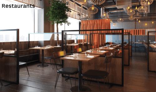 Covid-19 acetate screens for restaurants.